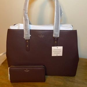 Kate Spade ♠️ Larchmont Avenue Lg Bag & Wallet Set